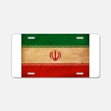 Iran Flag Aluminum License Plate