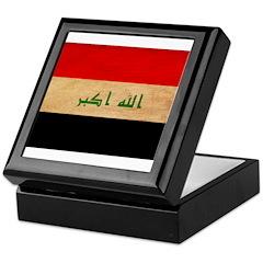 Iraq Flag Keepsake Box