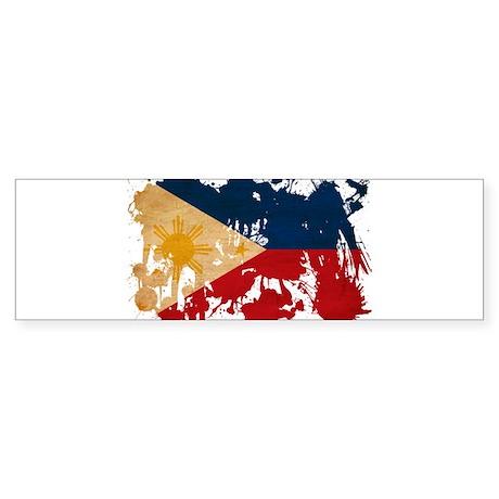 Philippines Flag Sticker (Bumper)
