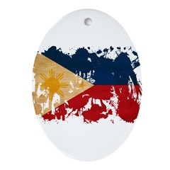 Philippines Flag Ornament (Oval)