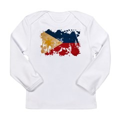 Philippines Flag Long Sleeve Infant T-Shirt