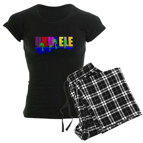 Hawaiian Ukulele Women's Dark Pajamas