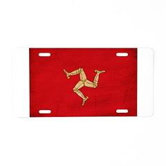 Isle of Man Flag Aluminum License Plate