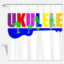 Hawaiian Ukulele Shower Curtain