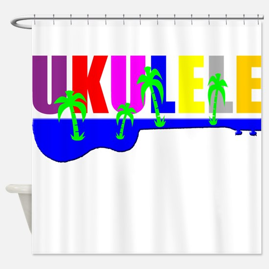 Hawaiian Ukulele Shower Curtain