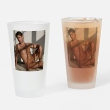 Cute Sexy man Drinking Glass