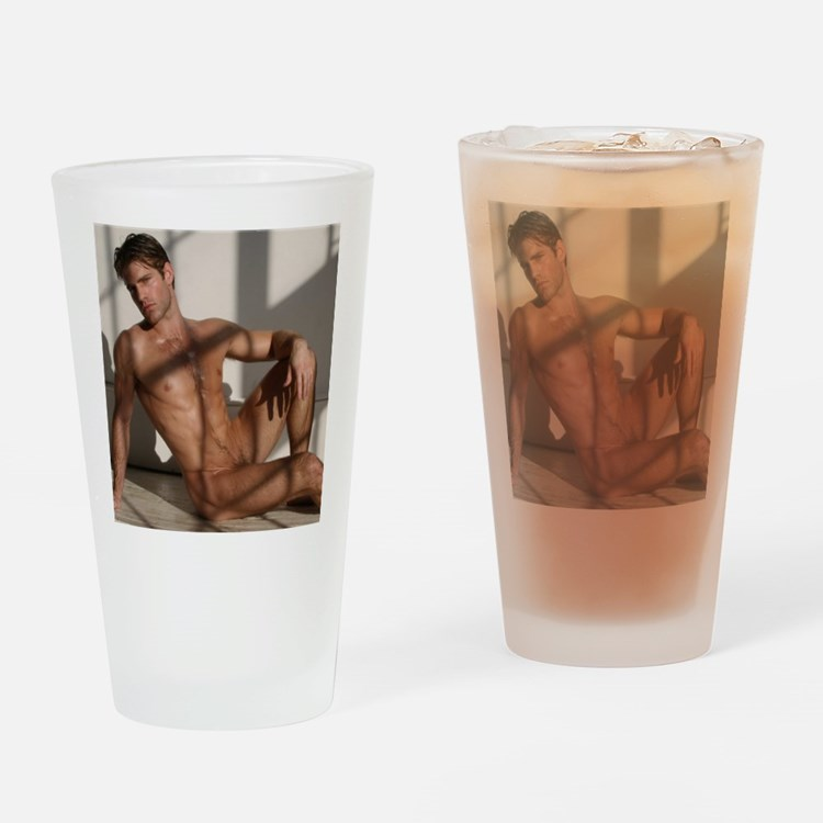 Cute Naked Drinking Glass