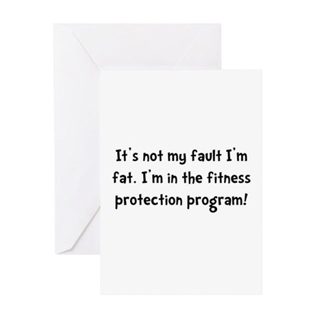 Fitness Protection Greeting Card