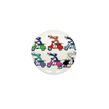 Moped Mouse by Tamara Warren Mini Button