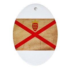 Jersey Flag Ornament (Oval)