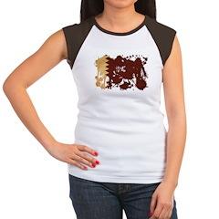 Qatar Flag Women's Cap Sleeve T-Shirt