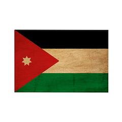 Jordan Flag Rectangle Magnet