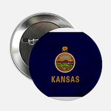 "Kansas Flag 2.25"" Button (100 pack)"