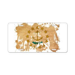 Rhode Island Flag Aluminum License Plate