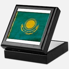 Kazakhstan Flag Keepsake Box