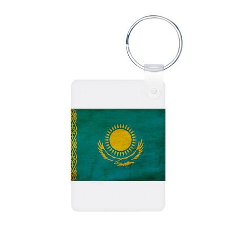 Kazakhstan Flag Aluminum Photo Keychain