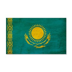Kazakhstan Flag 22x14 Wall Peel