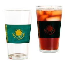 Kazakhstan Flag Drinking Glass