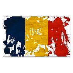 Romania Flag Sticker (Rectangle 50 pk)
