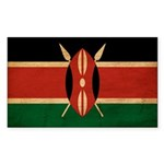 Kenya Flag Sticker (Rectangle 50 pk)
