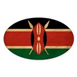 Kenya Flag Sticker (Oval)