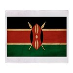 Kenya Flag Throw Blanket