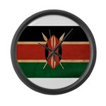 Kenya Flag Large Wall Clock