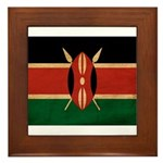 Kenya Flag Framed Tile