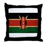Kenya Flag Throw Pillow