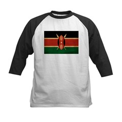 Kenya Flag Kids Baseball Jersey