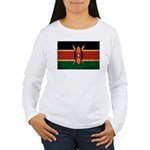 Kenya Flag Women's Long Sleeve T-Shirt
