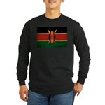 Kenya Flag Long Sleeve Dark T-Shirt