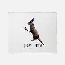 Hairy Otter Throw Blanket