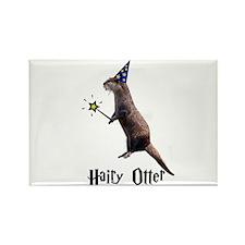 Hairy Otter Rectangle Magnet (10 pack)