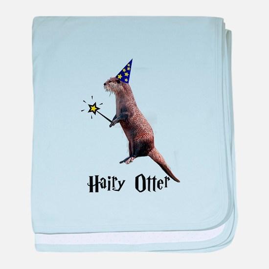 Hairy Otter baby blanket