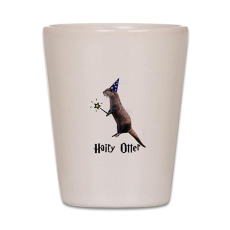 Hairy Otter Shot Glass