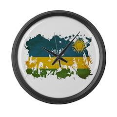 Rwanda Flag Large Wall Clock