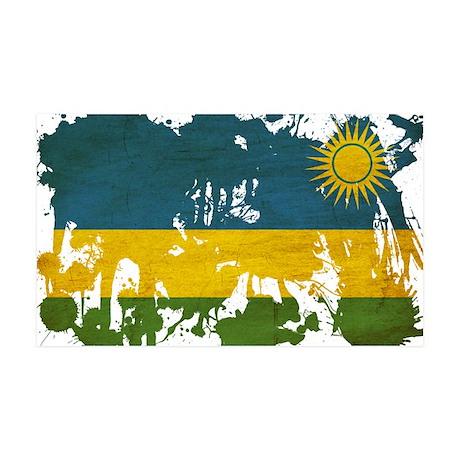 Rwanda Flag 38.5 x 24.5 Wall Peel
