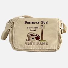 1st Birthday Football Messenger Bag