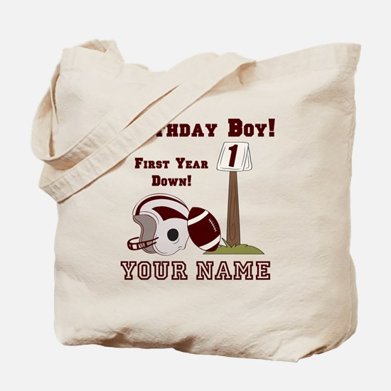 1st Birthday Football Tote Bag