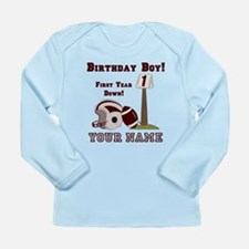 1st Birthday Football Long Sleeve Infant T-Shirt