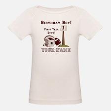 1st Birthday Football Tee