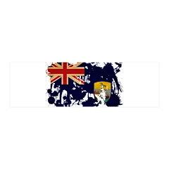 Saint Helena Flag 21x7 Wall Peel