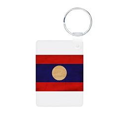 Laos Flag Keychains