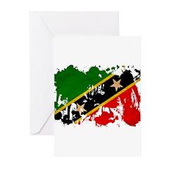 Saint Kitts Nevis Flag Greeting Cards (Pk of 20)