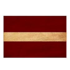 Latvia Flag Postcards (Package of 8)