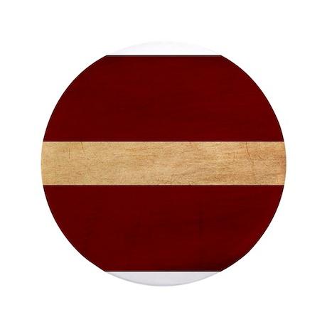 "Latvia Flag 3.5"" Button"