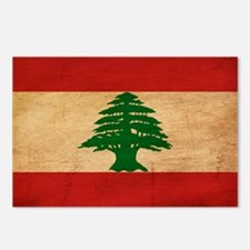 Lebanon Flag Postcards (Package of 8)