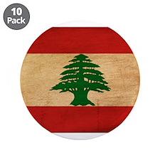 "Lebanon Flag 3.5"" Button (10 pack)"