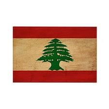 Lebanon Flag Rectangle Magnet